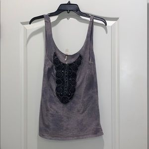 Free people sequined tank women's size large